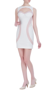 Sweetheart neckline cutout mini dress