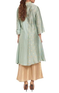 Chanderi & cotton silk button down tunic with palazzos