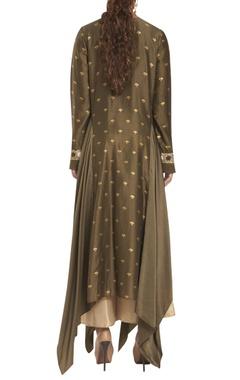 Chanderi & cotton silk asymmetric tunic