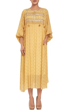 Rriso Crepe chiffon hand embroidered tunic with slip