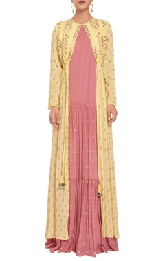 Rriso Tiered style maxi dress with jacket