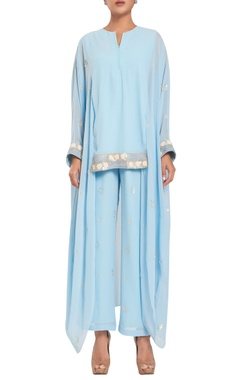 Rriso Embroidered high-low tunic with pants