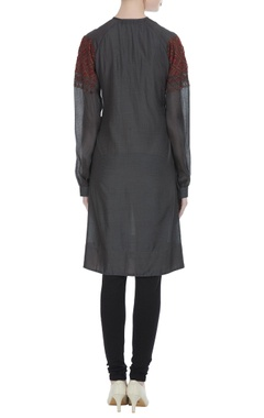 Hand embroidered organza tunic
