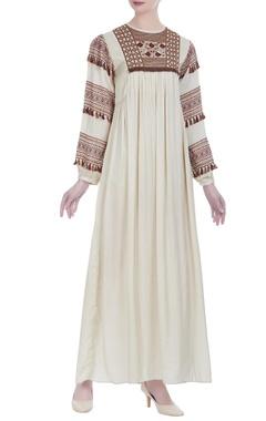 Shruti Sancheti Peasant style embroidered maxi dress