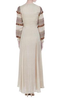 Colorful gypsy tassel maxi dress