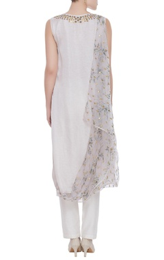 Satin draped layer kurta