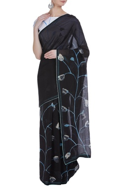 Vedika M Hand painted tulip sari with unstitched blouse