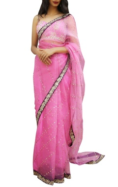 Ranian Sequin embroidered sari with blouse