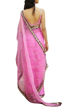 Sequin embroidered sari with blouse