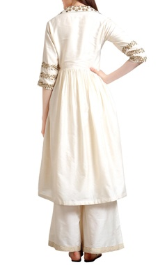 Hand embroidered sequin kurta with palazzos