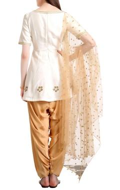 Sequin hand embroidered short kurta set
