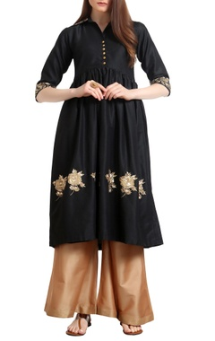 Ranian Sequin hand embroidered gathered style tunic with flared pants