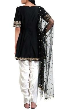 Sequin hand embroidered flared kurta set