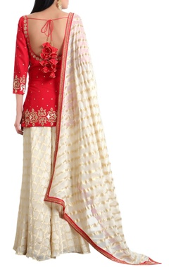 Square neckline sequin embroidered kurta set