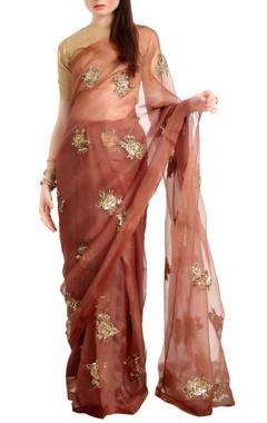 Ranian Organza silk sari with woven zari blouse