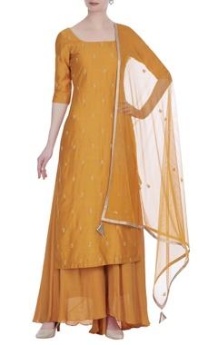 Sequins & thread embroidered kurta & palazzo set