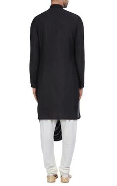 Cowl pleated kurta with side placket