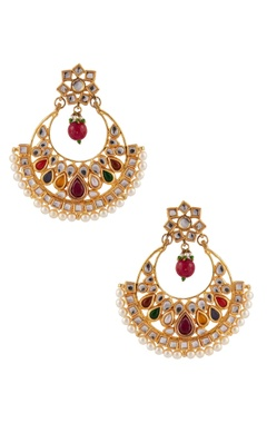 POSH By Rathore Kundan & pearl beaded earrings