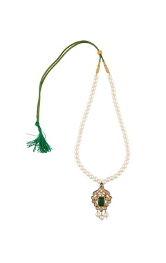 POSH By Rathore Pendant long necklace with stud earrings
