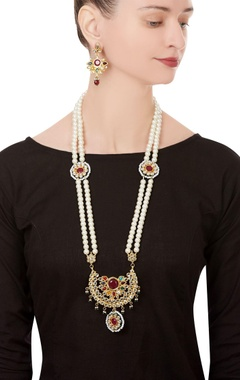 Navrattan kundan necklace with earrings