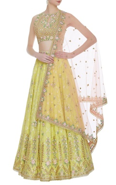 Banarasi silk embroidered lehenga set