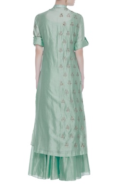 Sequin tikki embroidered kurta set