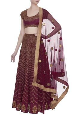Joy Mitra Sequin embroidered lehenga set