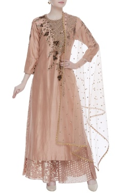 Joy Mitra Sequin embroidered chanderi kurta set