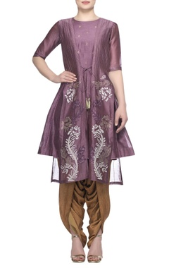 Devnaagri Kurta with embroidered jacket and dhoti pants