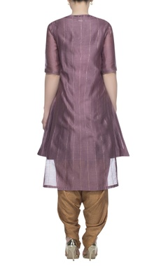 Kurta with embroidered jacket and dhoti pants