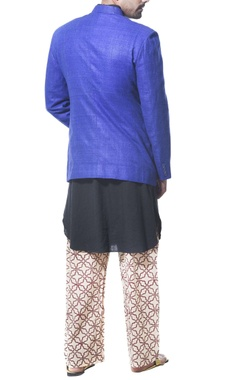Kurta with printed pajama and nehru jacket