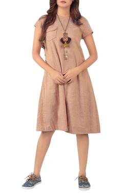 Sayantan Sarkar Midi dress with side button placket