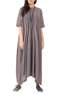 Sayantan Sarkar Asymmetric hemline maxi dress
