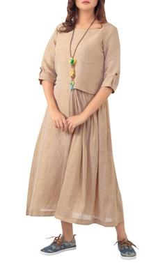 Sayantan Sarkar Pleated dress with utility pocket