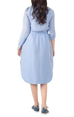 Shirt dress with button down placket