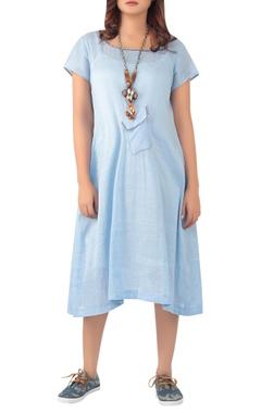 Sayantan Sarkar Midi dress with center pocket