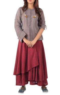Sayantan Sarkar Tassel detail shirt