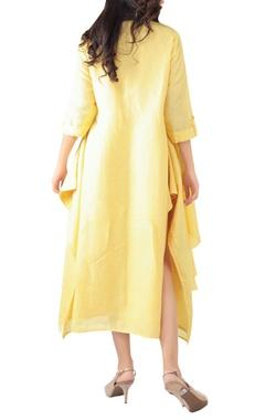 Side pleated maxi dress