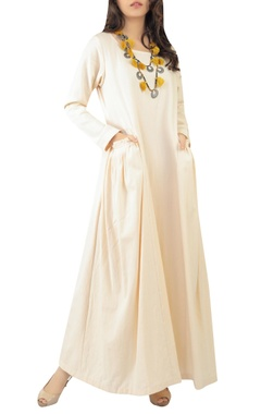 Sayantan Sarkar Flared maxi dress with utility pockets