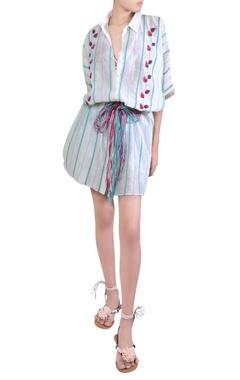 Rimzim Dadu Embroidered midi dress with waist detail
