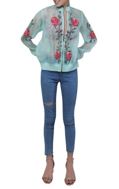 Rimzim Dadu Floral embroidered jacket