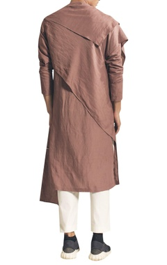 Draped kurta with asymmetric hemline