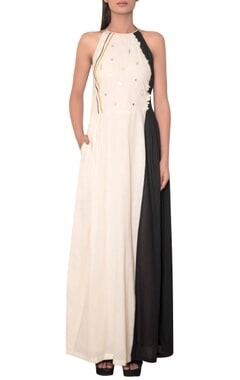 Mirror embroidered maxi dress