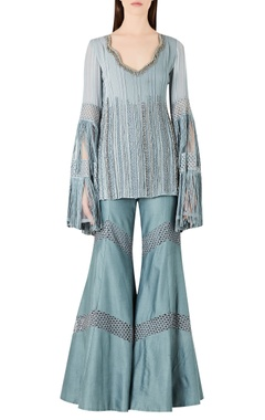 Ridhima Bhasin Embroidered long kurta with flared pants