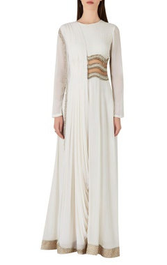 Ridhima Bhasin Draped style jumpsuit with sheer waist