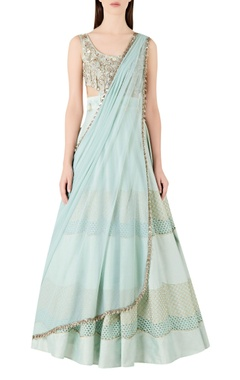 Ridhima Bhasin Embellished lehenga with embroidered blouse and dupatta