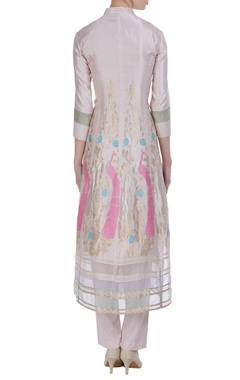Hand woven straight fit kurta with pants