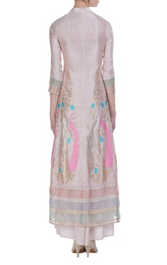 Straight fit kurta with flared pants