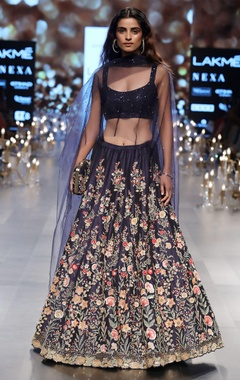 Sequin embrodiered lehenga with blouse and dupatta