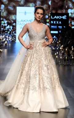 Tulle sequin & crystal embellished bridal gown